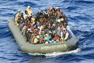 Migrants at Lampedusa. Credit: Ilaria Vechi/IPS
