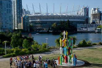Human Structures by Jonathan Borofsky, Biennale Vancouver Open Air Museum